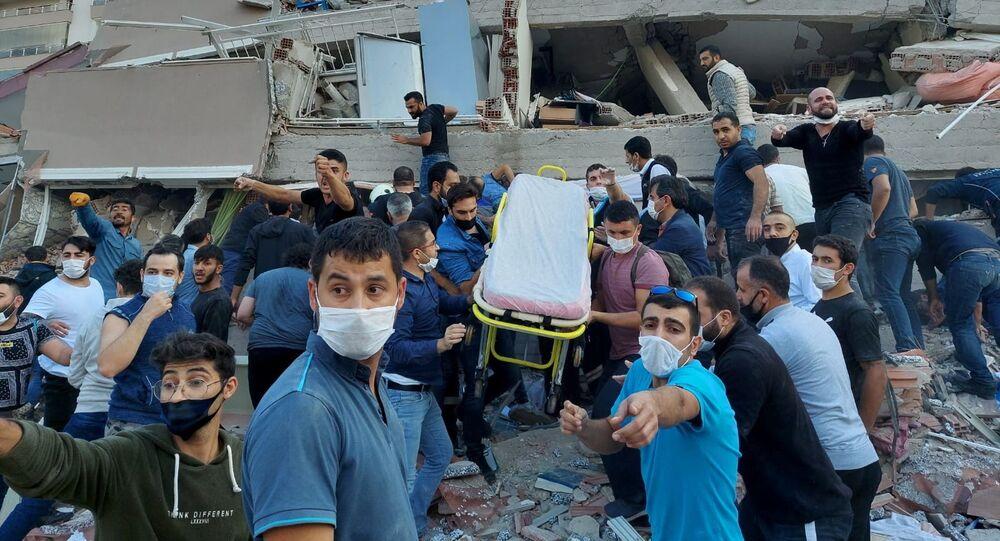 Následky zemětřesení v Turecku