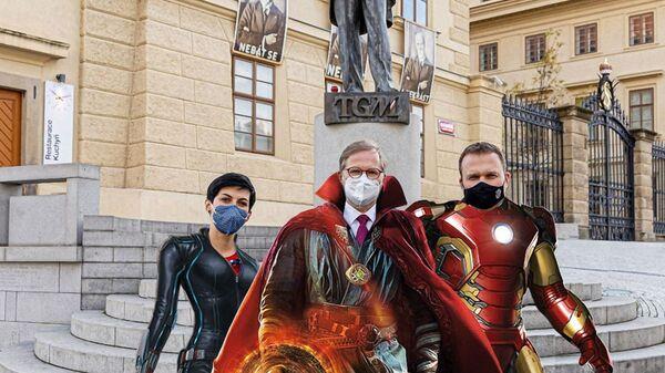 Marketa Pekarová Adamová, Petr Fiala a Marian Jurečka - Sputnik Česká republika