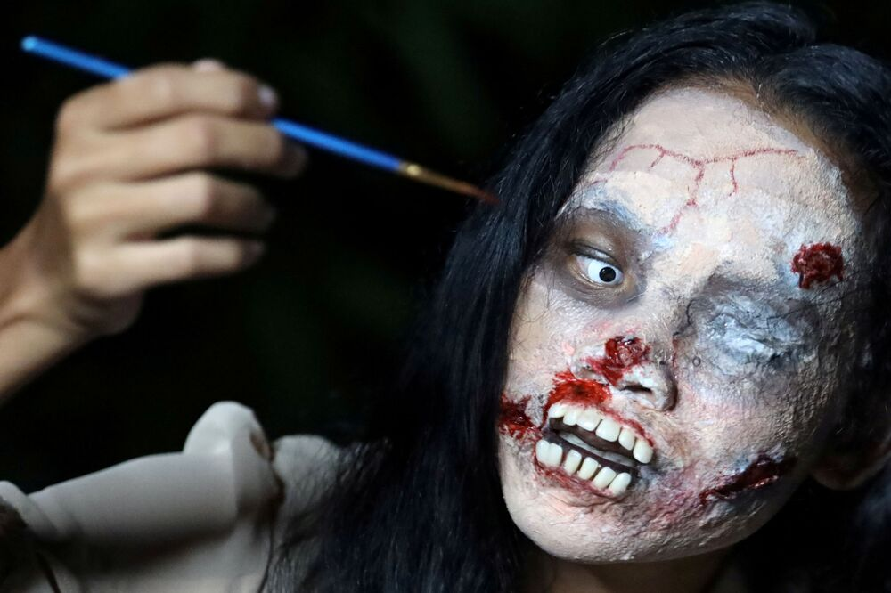 Kanitta Thongnak během Halloweenu, Bangkok