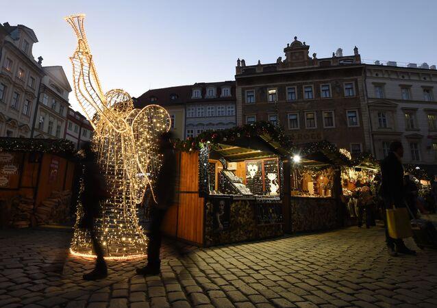 Vánoční trh v centru Prahy