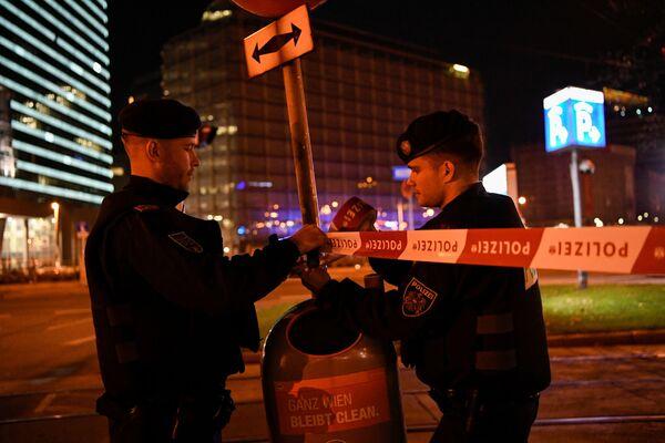 Policie na místě střelby  - Sputnik Česká republika