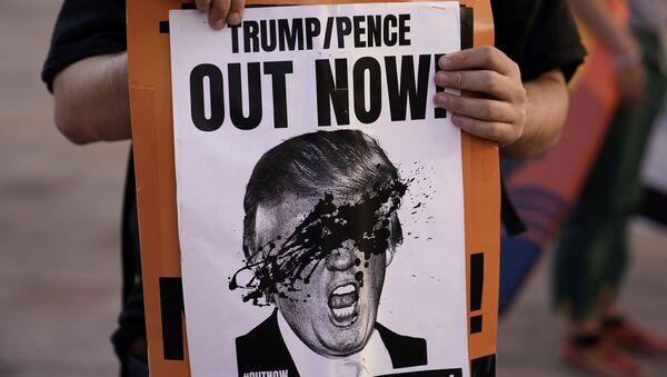 Акция протеста после выборов президента США в Лос-Анджелесе - Sputnik Česká republika