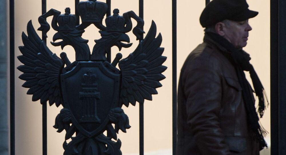 U budovy Generální prokuratury RF v Moskvě