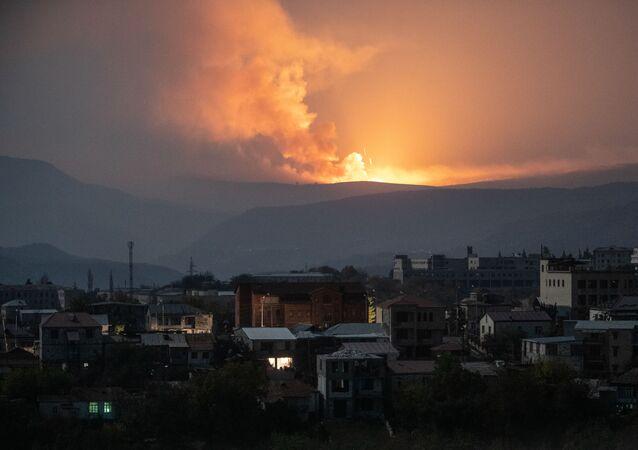Výbuch poblíž Stěpanakertu
