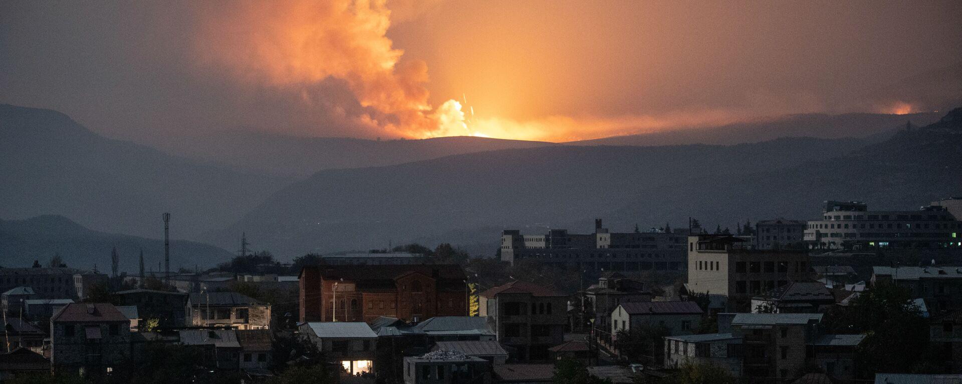 Výbuch poblíž Stěpanakertu - Sputnik Česká republika, 1920, 02.02.2021