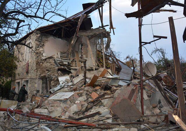 Důsledky nočního a ranního ostřelování Stepanakertu (6. listopadu 2020). Karabach