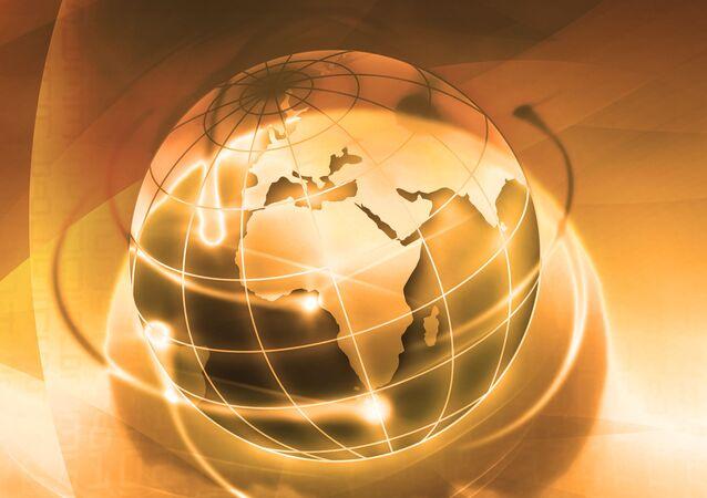 Zlatá zeměkoule. Ilustrační foto