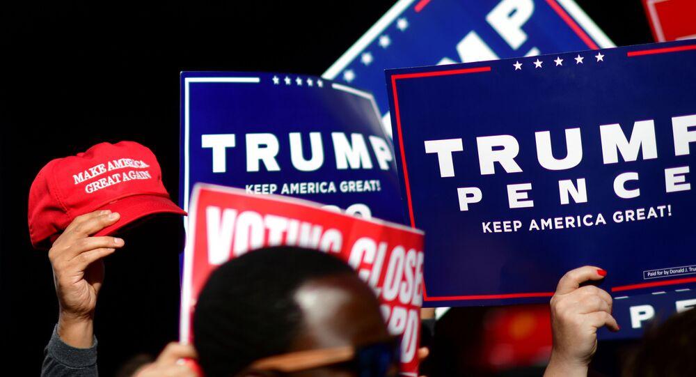 Mítink na podporu Trumpa