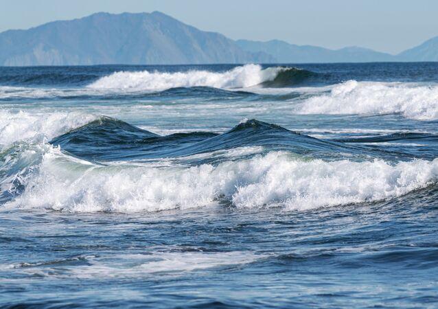 Tichý oceán, pobřeží Kamčatky