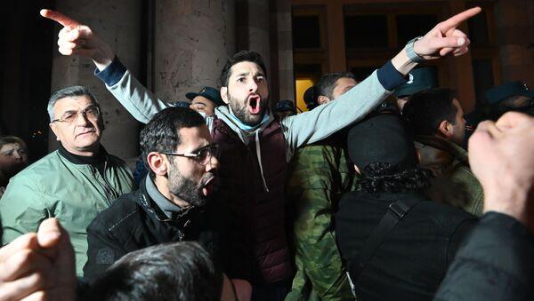 Protest v Jerevanu - Sputnik Česká republika