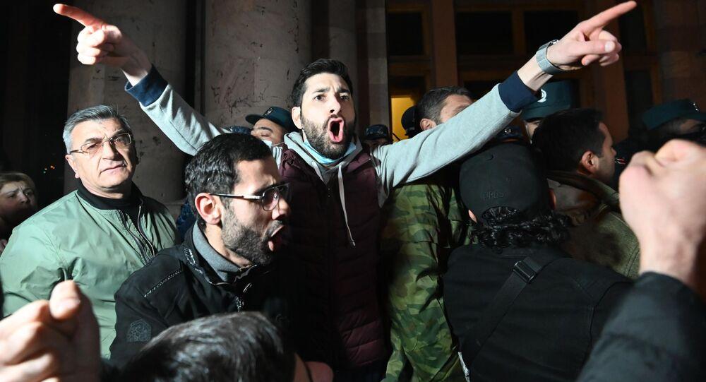 Protest v Jerevanu