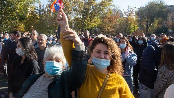 Protestní akce v Jerevanu. Ilustrační foto. - Sputnik Česká republika