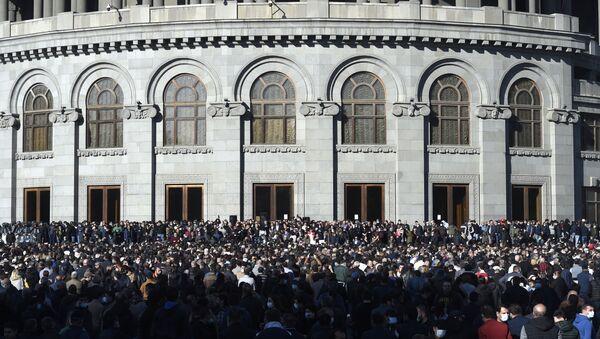 Protesty v Jerevanu. Ilustrační foto - Sputnik Česká republika