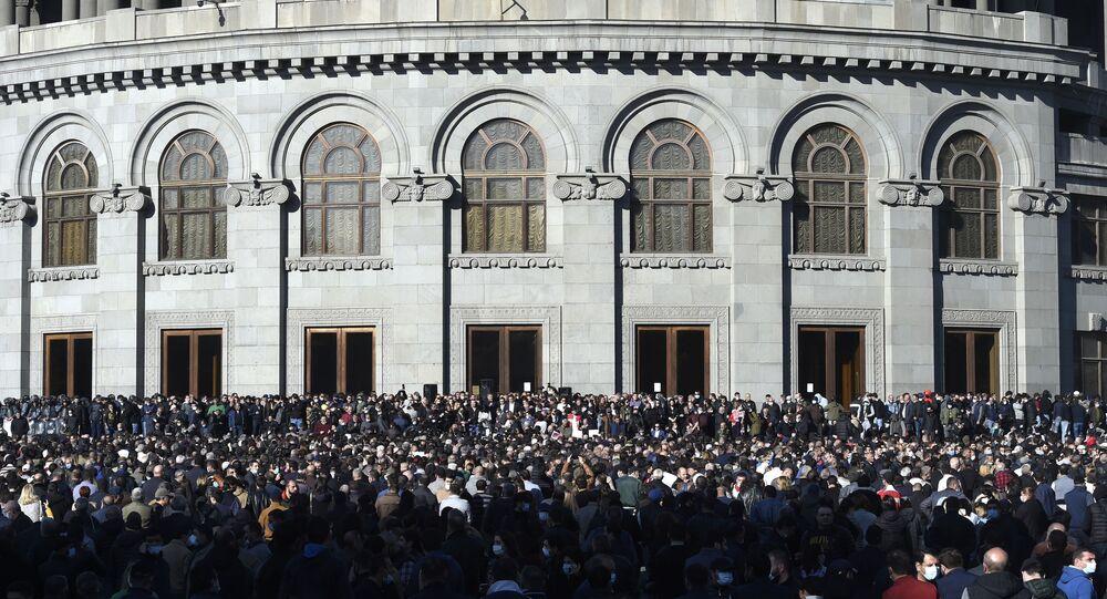 Protesty v Jerevanu. Ilustrační foto