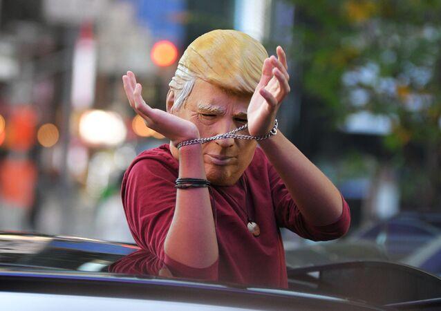 Protest po amerických volbách