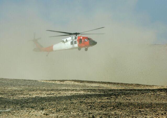 Vrtulník na Sinaji