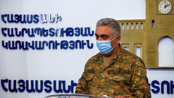 Oficiální zástupce arménského ministerstva obrany Arcrun Ovannisjan - Sputnik Česká republika