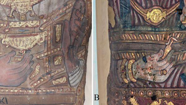 Mumie nalezené v roce 1615 v Sakkáře. - Sputnik Česká republika