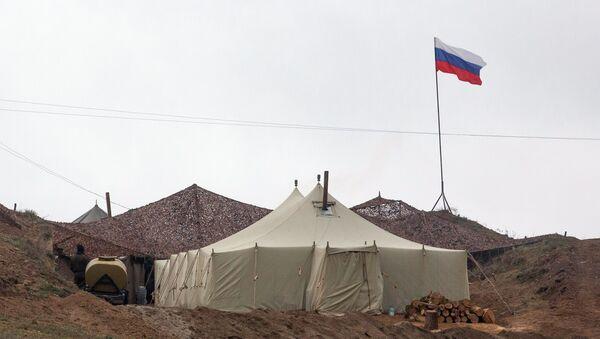 Základna ruských mírových sil v Náhorním Karabachu - Sputnik Česká republika