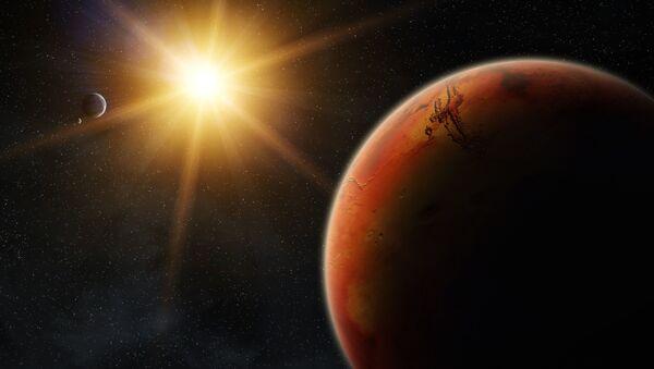 Марс во время восхода солнца - Sputnik Česká republika