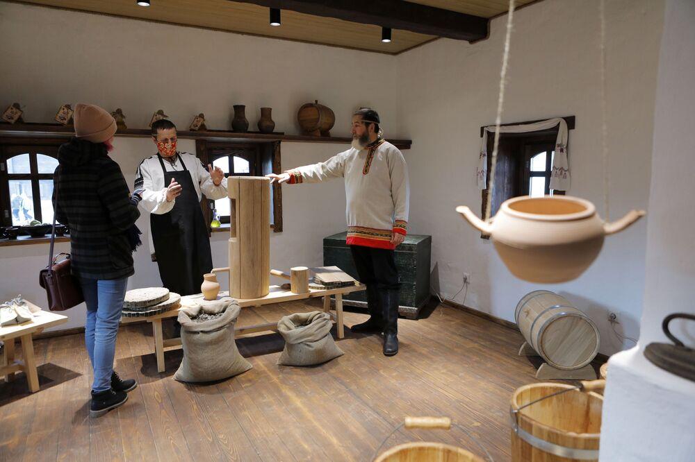 Třída mistrů v historickém a kulturním komplexu Slobodská Ukrajina v Bělgorodské oblasti