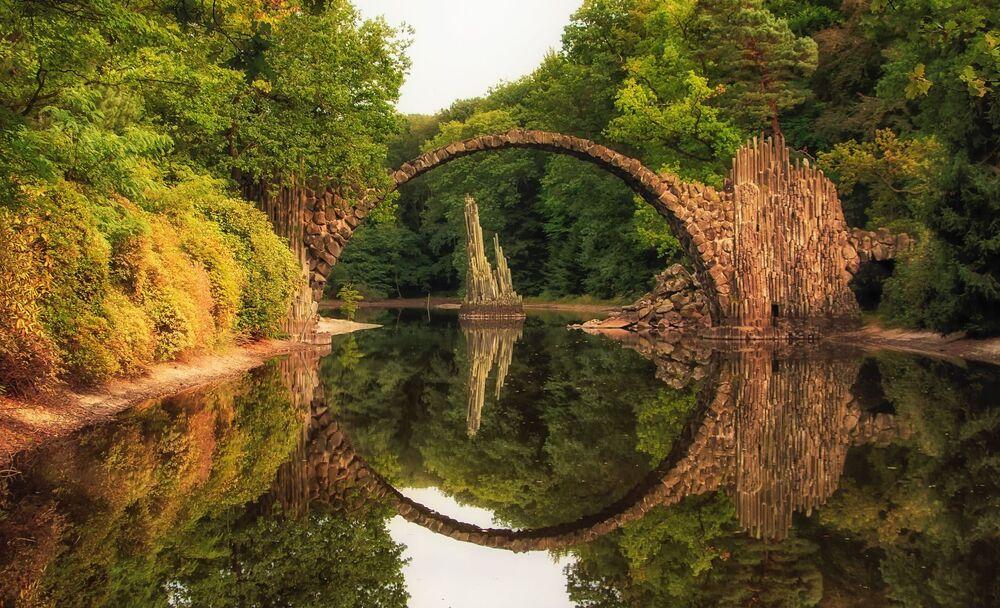 Most Rakotzbruke v Německu