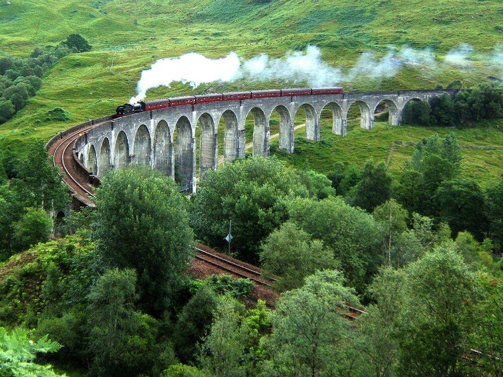Glenfinnan Viaduct ve Skotsku