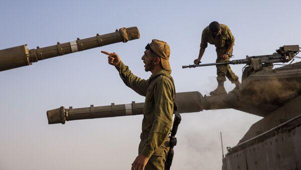 Izraelští vojáci na Golanských výšinách - Sputnik Česká republika