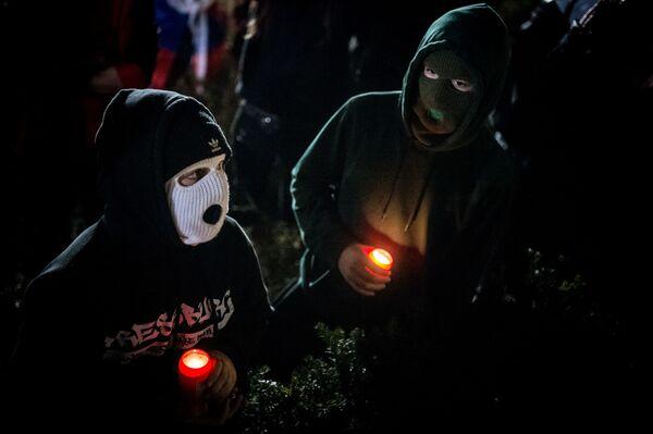 Protestující v Bratislavě - Sputnik Česká republika