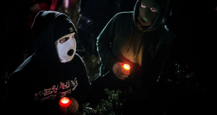 Protest kotlebovců proti vládě na Slovensku (17. 11. 2020)
