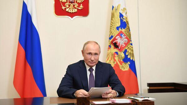 Putin se obrátil s projevem během zasedání mezinárodního vědecko-praktického fóra Ponaučení z Norimberku - Sputnik Česká republika