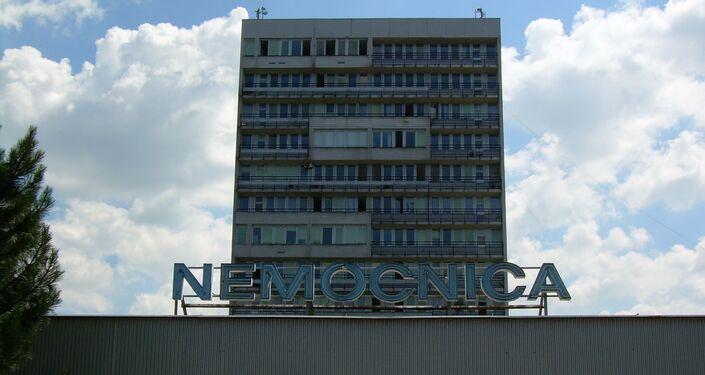 Budova Univerzitní nemocnice v Bratislavě na Slovensku