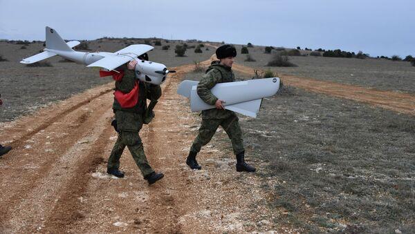 Ženská bojová jednotka pro řízení bezpilotních letounů z brigády Černomořské flotily - Sputnik Česká republika