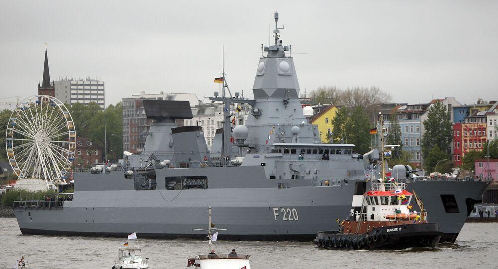 Německá fregata Hamburg. Ilustrační foto.
