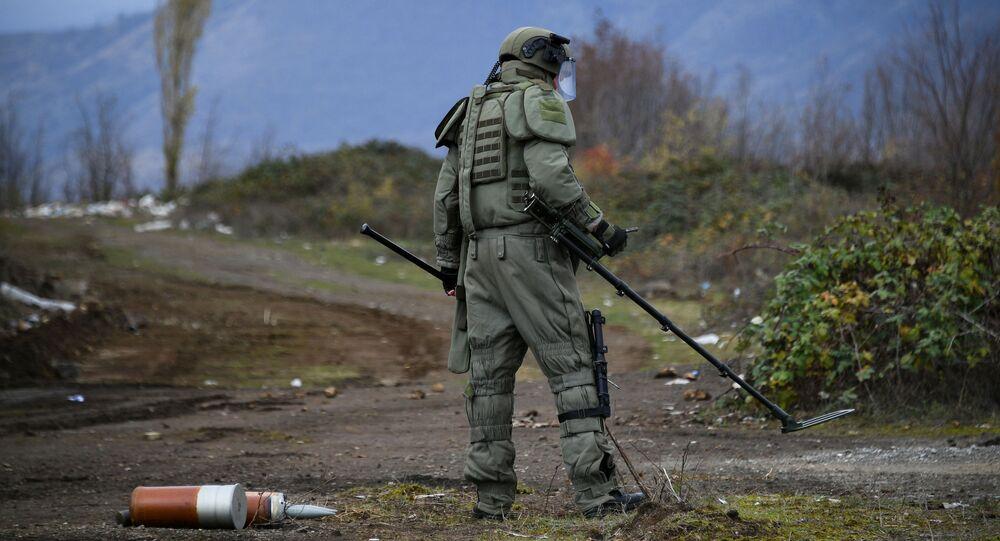 Důstojník ruských mírových sil v Náhorním Karabachu