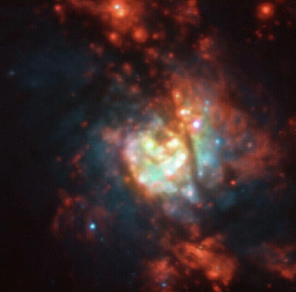 V Evropské jižní observatoři vyfotili tisíce nových hvězd v galaxii NGC 5236.