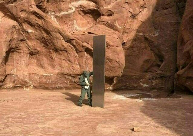 Záhadný monolit na poušti v Utahu