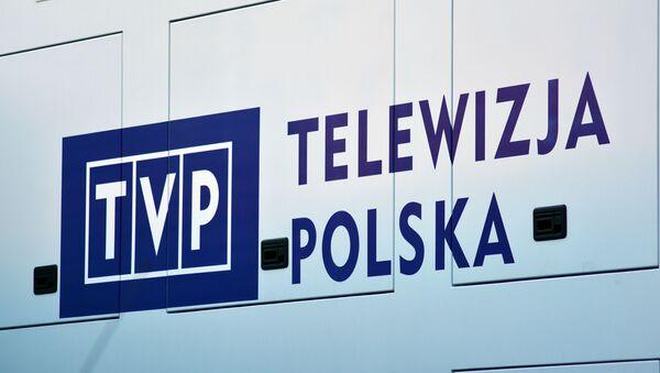 Logo polského televizního kanálu TVP - Sputnik Česká republika