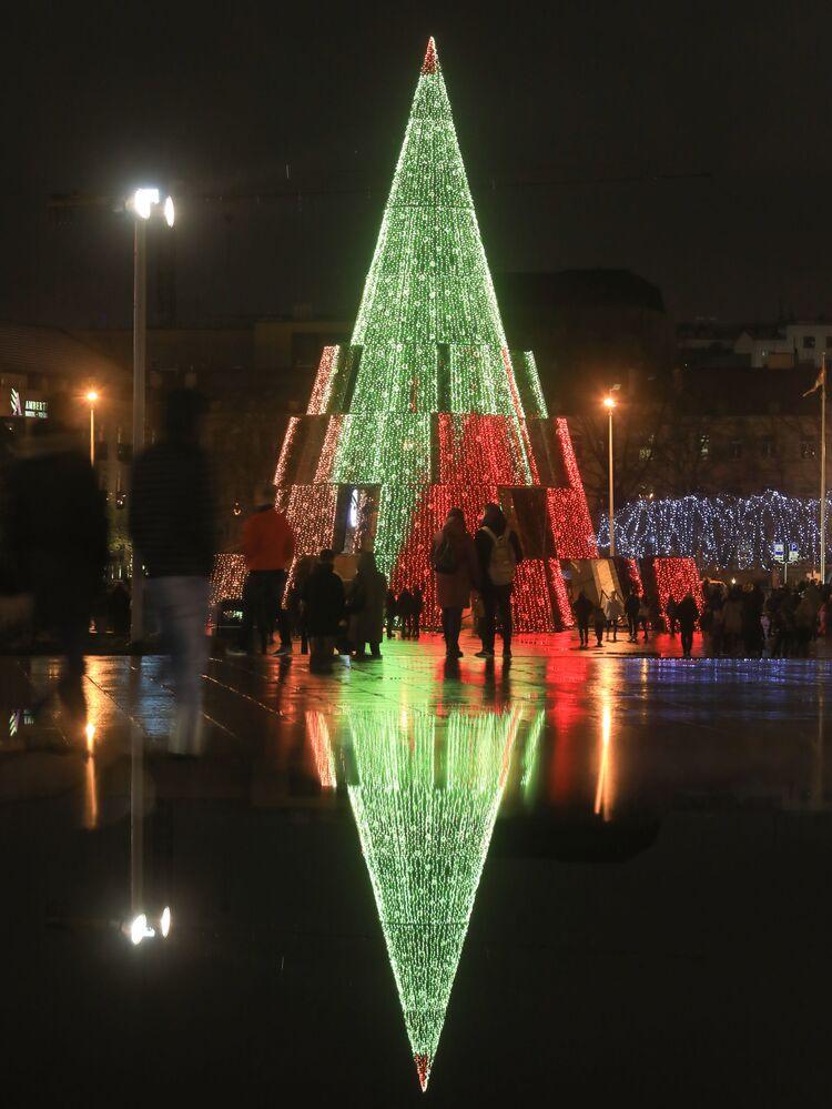 Vánoční strom ve Vilniusu