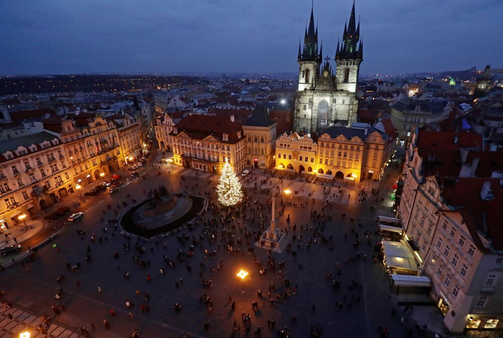 Vánoční strom v Praze