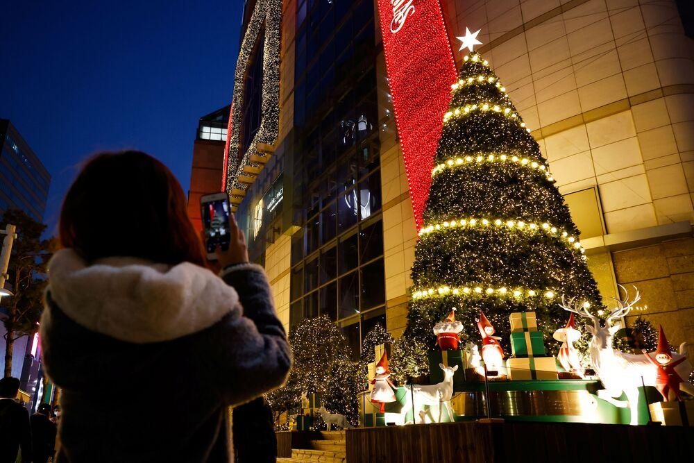 Vánoční strom v Soulu