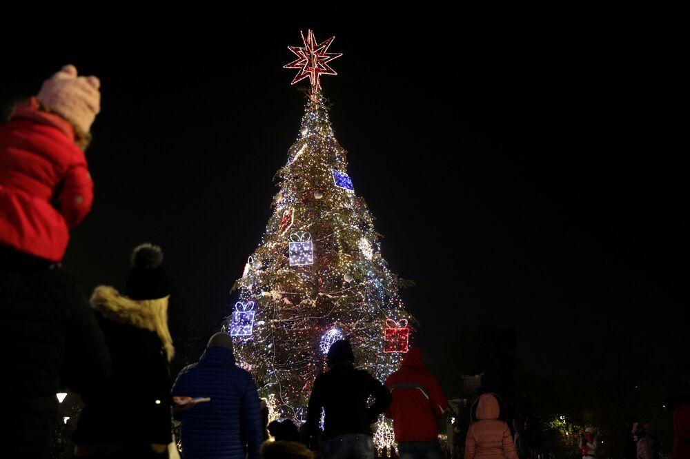Vánoční strom v Sofii, Bulharsko