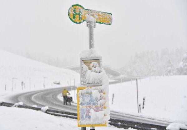 Sněžení v Obertauernu u Salzburgu, Rakousko - Sputnik Česká republika