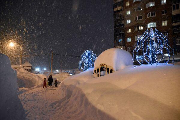Zasněžená ulice v Norilsku - Sputnik Česká republika