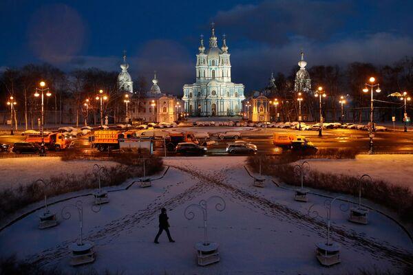 Náměstí u katedrály v Petrohradě, Rusko - Sputnik Česká republika