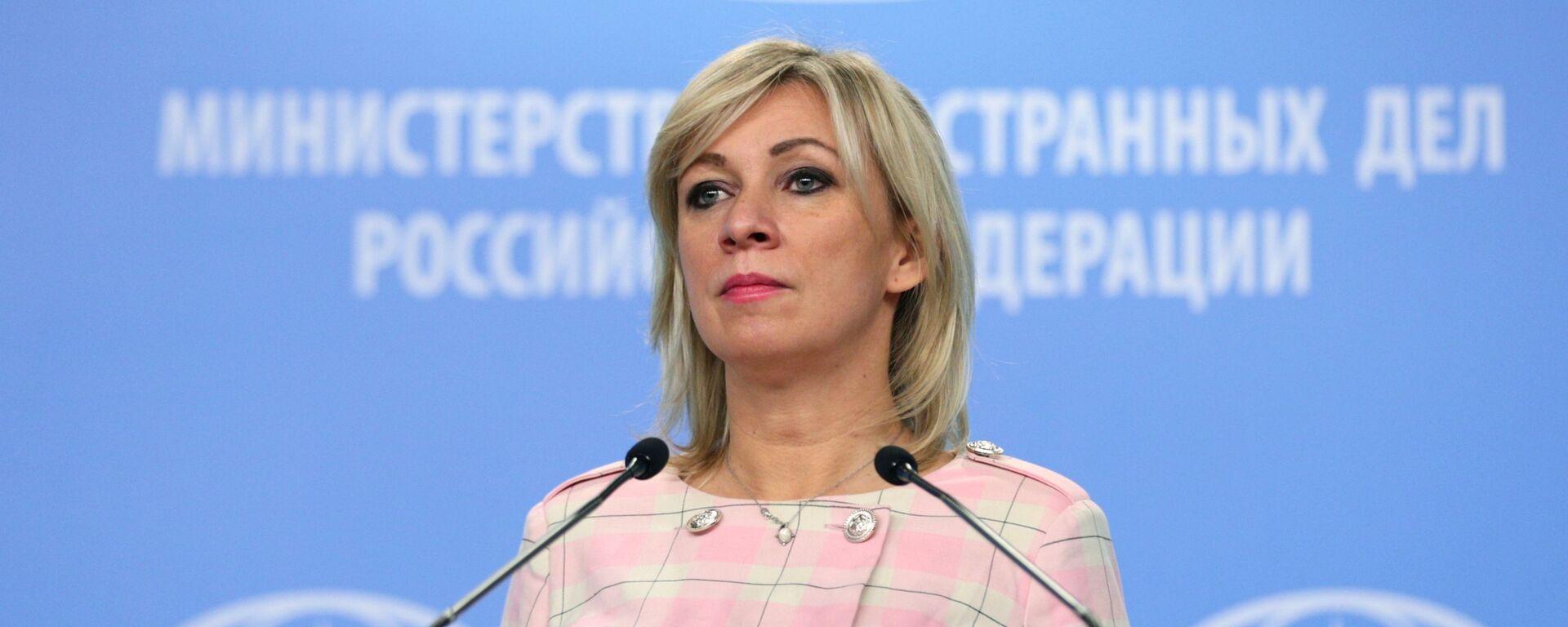 Mluvčí ruského ministerstva zahraničních věcí Maria Zacharovová - Sputnik Česká republika, 1920, 26.04.2021