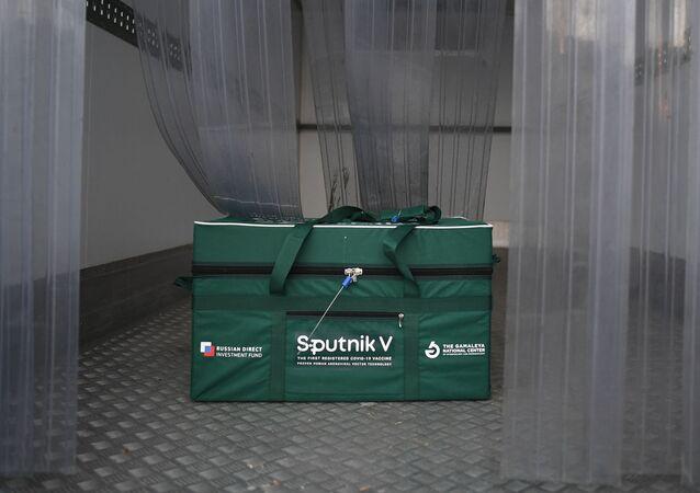 Odeslání vakcíny Sputnik V do zahraničí. Ilustrační foto