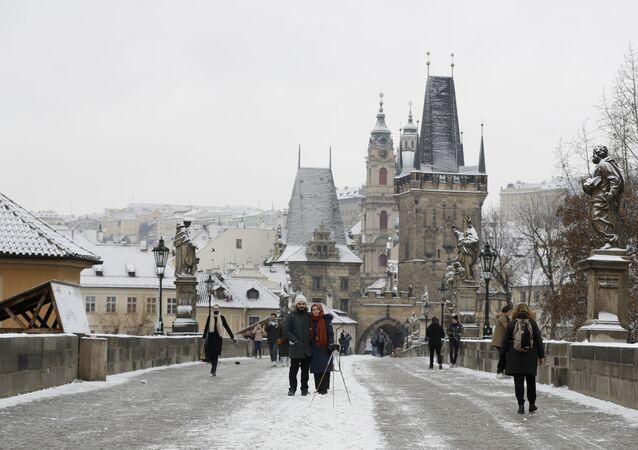Předvánoční Praha v době koronaviru