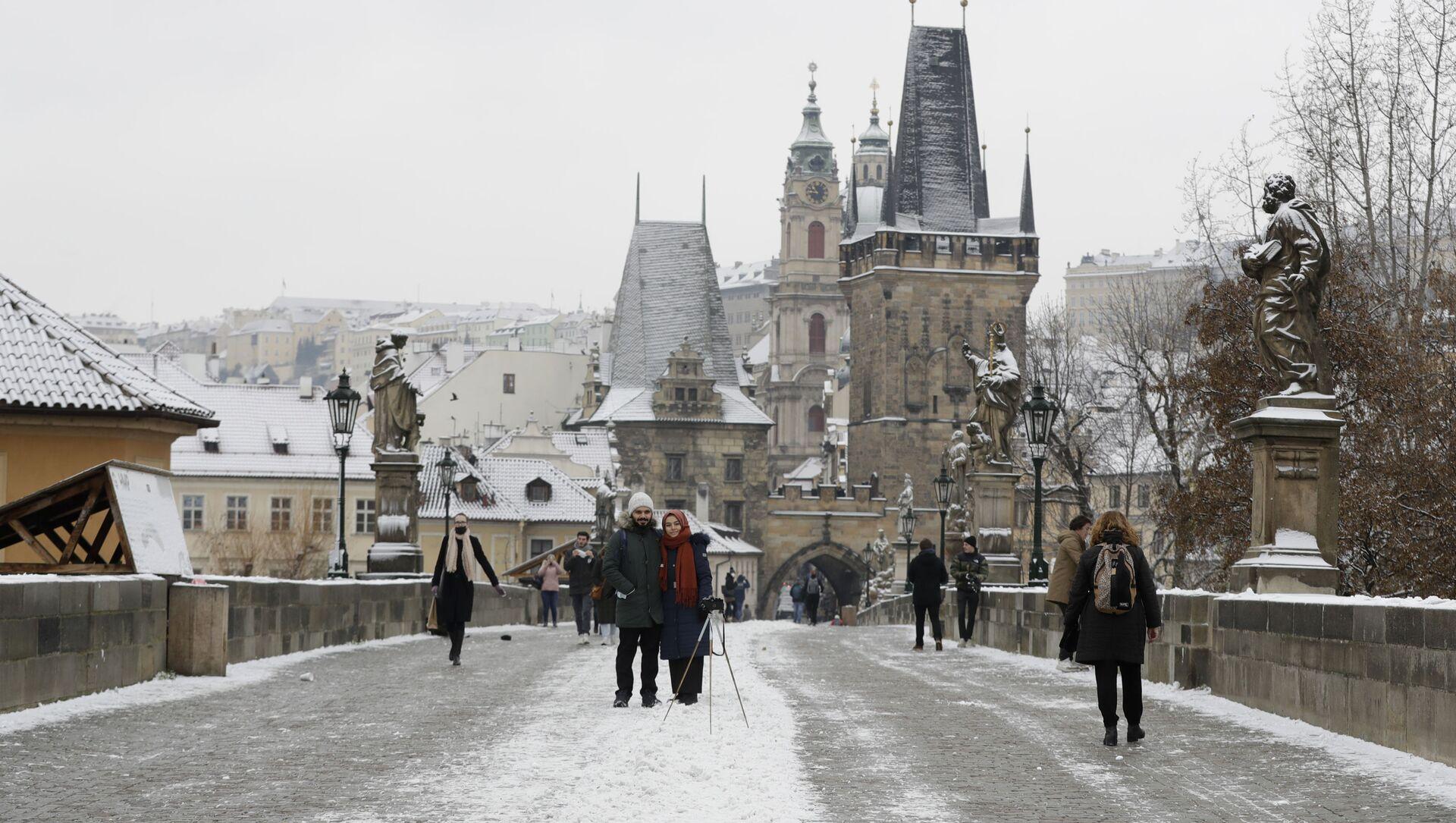 Předvánoční Praha v době koronaviru - Sputnik Česká republika, 1920, 04.02.2021