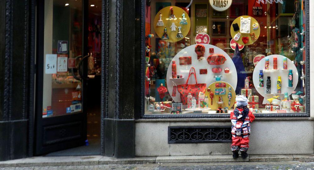Obchod v době koroanviru v Praze